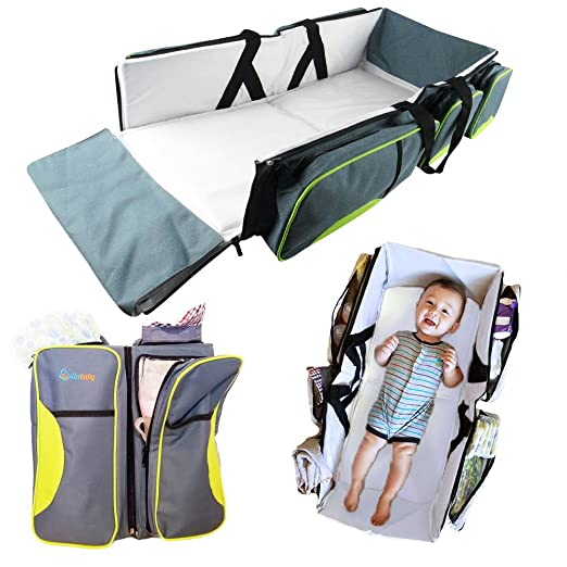 Lullababy Travel Portable Bassinet & Diaper Bag Review