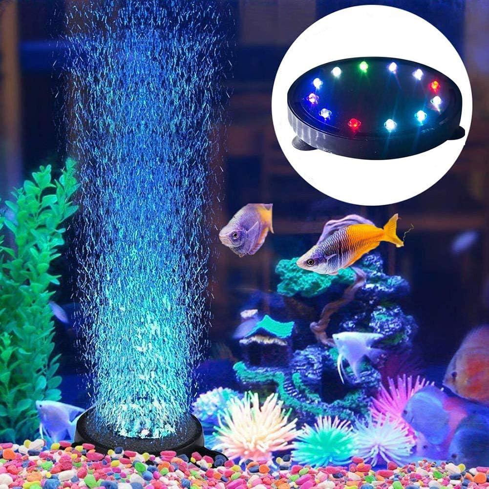 Aquarium Fish Tank Air Curtain Bubble Generator Bubble Air Stone Fish Tank Air Bubbler Led Light Air Pump Bubble Stone Lamp For Turtle Fish Tank Decoration Amazon Co Uk Sports Outdoors
