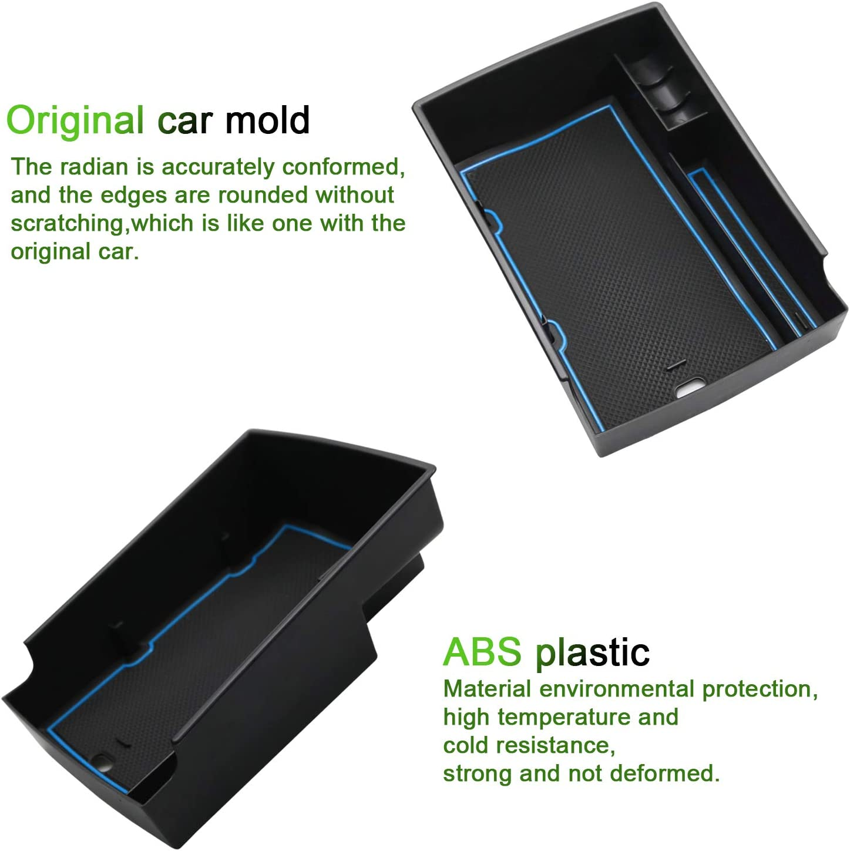 YEE PIN 2020 Kona EV Center Console Organizer Tray Kona EV Armrest Tray Armrest Box Secondary Storage Insert ABS Materials Tray Compatible with 2020 Kona EV Red