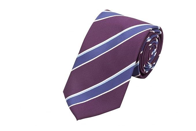 Corbata de Fabio Farini en púrpura azul blanco: Amazon.es: Ropa y ...