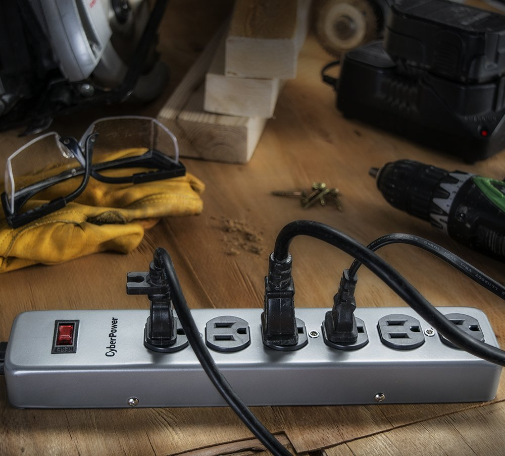 CyberPower CSB606M Essential Surge Protector, 900J/125V, 6 Outlets, Metal Casing, 6ft Power Cord by CyberPower (Image #4)