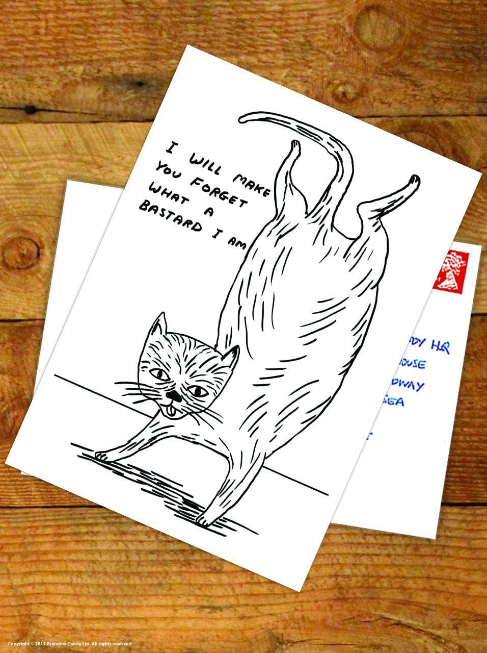 Divertente cartolina ufficiale di David Shrigley Lets Rut