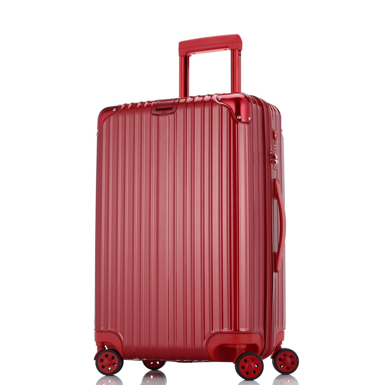 Unitravel スーツケース 超軽量【1年修理保証】 キャリーケース TSAロック ファスナー開閉式 キャリーバッグ 旅行 出張 静音8輪 s型 機内持込 B071NWMY9X M (22)型|レッド レッド M (22)型