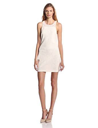 Addison Women's Nolton Cotton Lace Shift Dress, White, Small