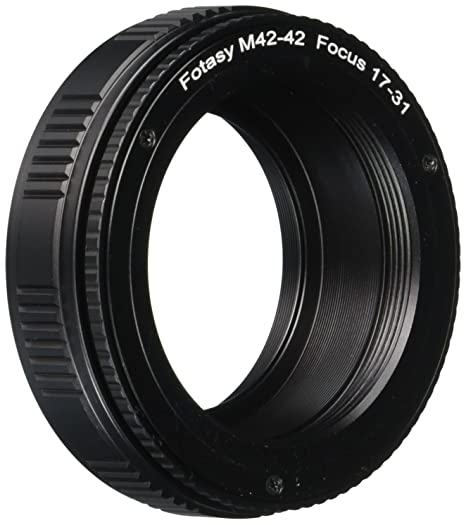 Fotasy 12-19mm M42 to M42 Lens Macro Helicord Adapter 7mm Max Movement fits M42 Screw Mount Lens 42mm Focusing Helicoid Extention Tube 12mm to 19mm