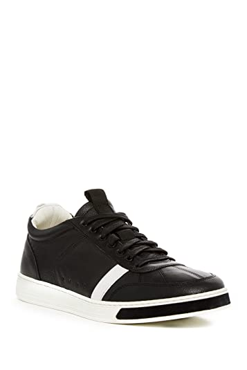 ce231fa109188 Amazon.com   rag   bone Men s Flynn Black Leather Sneakers   Fashion ...