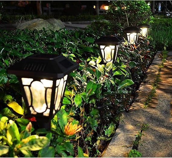 Luces solares para exteriores, luces LED para jardín, luces de aluminio para el jardín, patios, lámparas de pie. Impermeabilizante de jardín, lámpara de pie de paisaje de acera,warmlight: Amazon.es: Iluminación