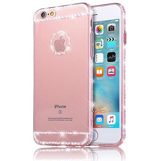 17 opinioni per Sunroyal® iphone 6 plus 6S plus Cover, Bling Strass Transparent Custodia