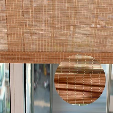 Estores Enrollables Persianas al Aire Libre para el Porche de la Pérgola de Cubierta, Cortina de Rodillos Carbonizados con Filtro de Luz Extra Ancha para Oficina en el Hogar, Longitud Personalizada: Amazon.es: