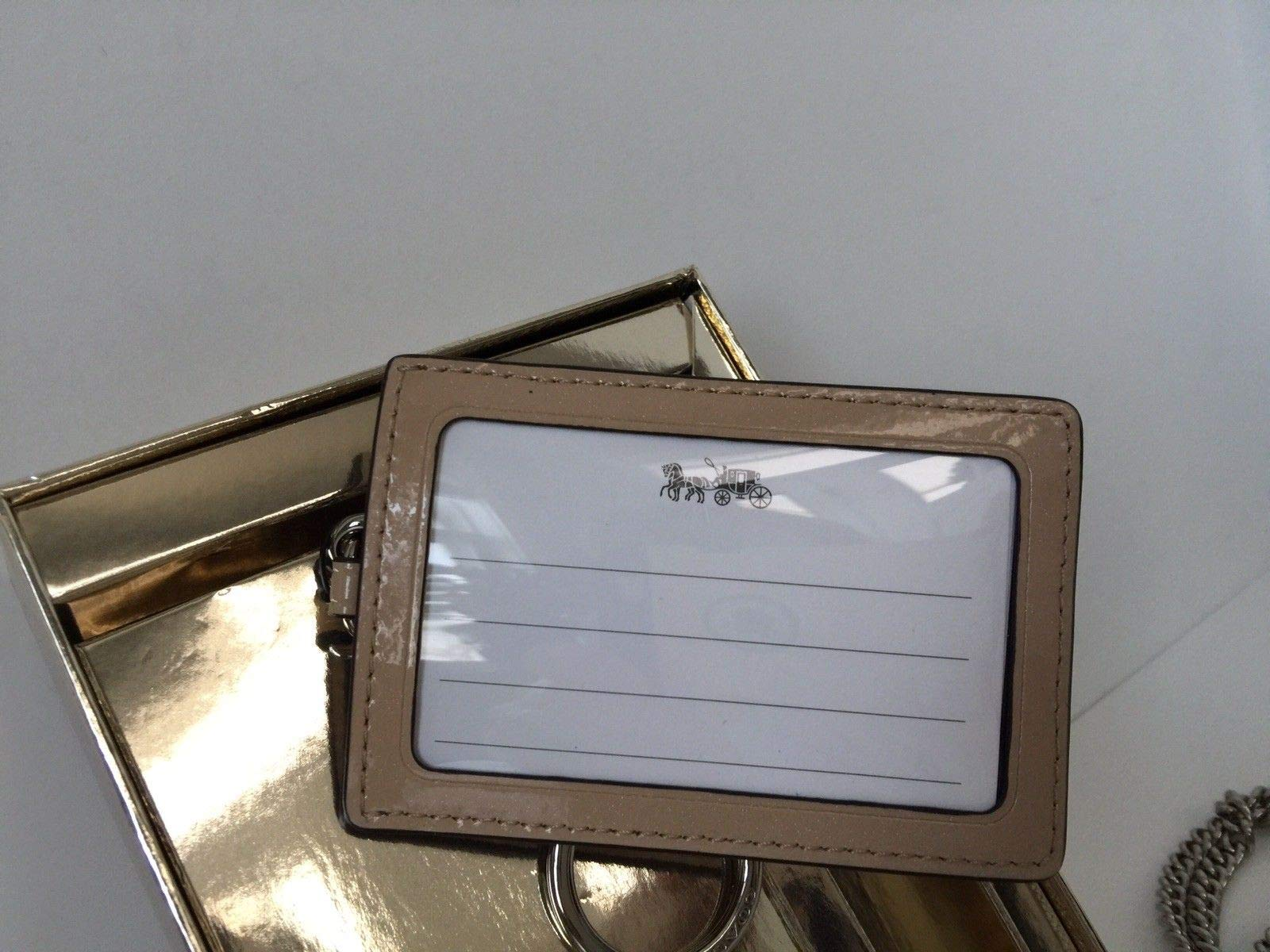 Coach Women's Boxed ID Lanyard/Card Case Set in Signature Patent Leather (Platinum/Silver) by COACH (Image #5)