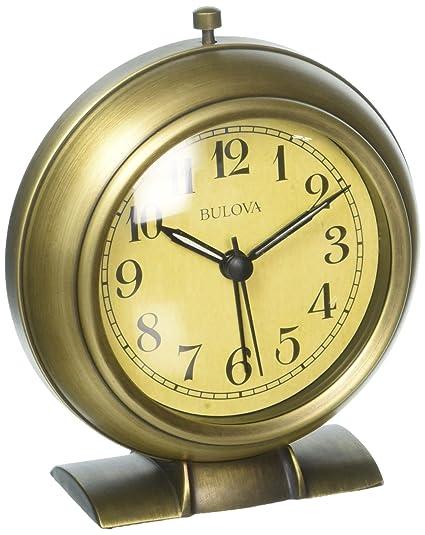 Bulova la Salle reloj despertador, bronce antiguo: Amazon.com.mx ...