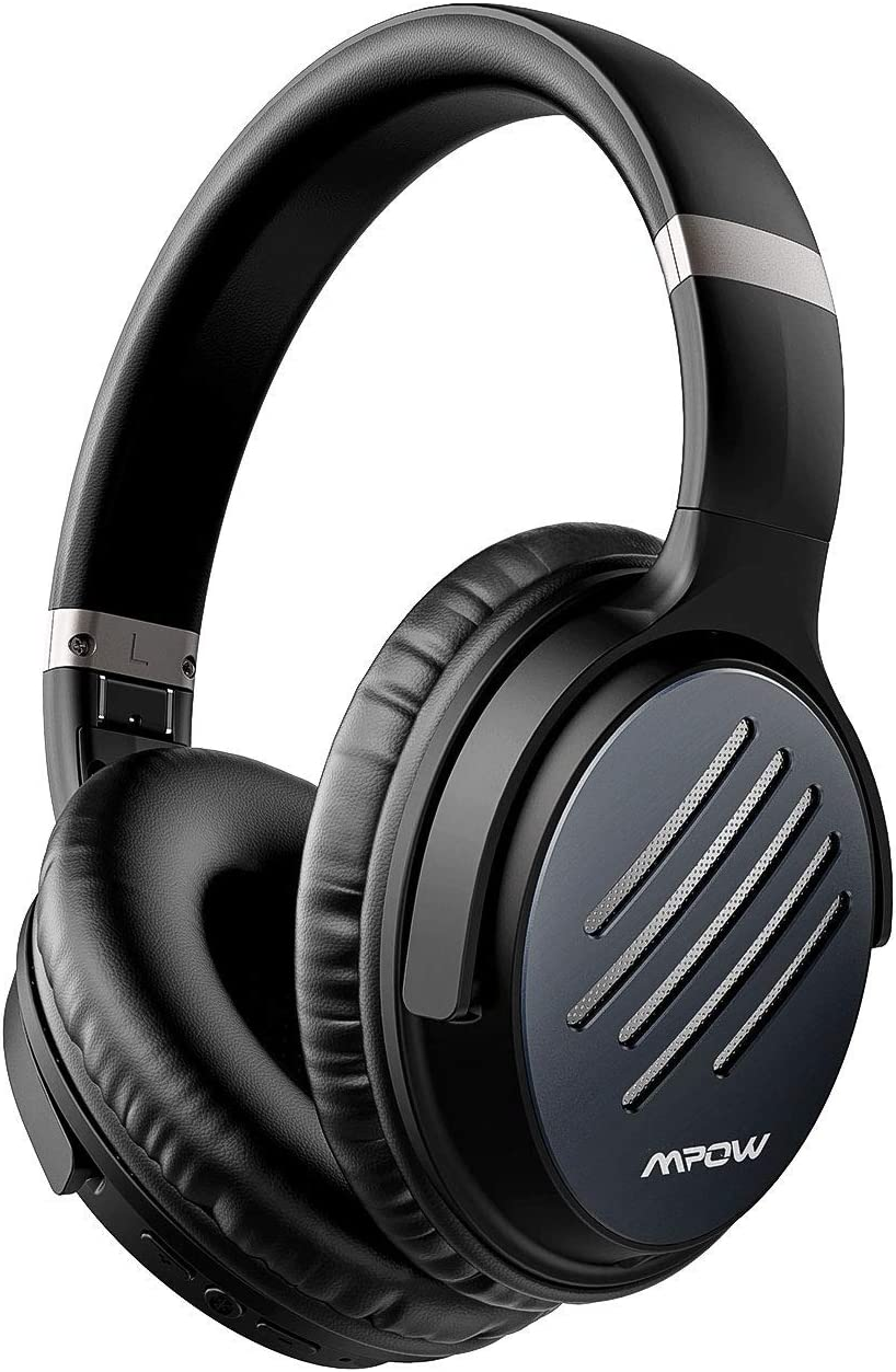 Mpow 2019 Upgrade Noise Cancelling Headphones, Hi-Fi Sound Deep Bass Bluetooth Headphones Over Ear, Quick Charge 30Hrs Playtime Wireless Headphones with CVC 6.0 Mic, for TV PC Cellphone Travel Work