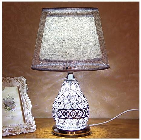 HW.Q Lámpara de Mesa Cristal Europeo de la Moda Cama de la ...