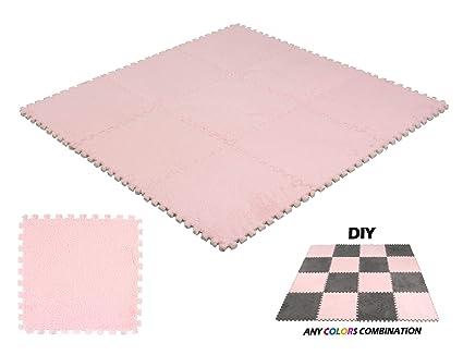 carpet tiles bedroom commercial deelf pcs interlocking carpet tiles plush foam square mats set for living room bedroom amazoncom