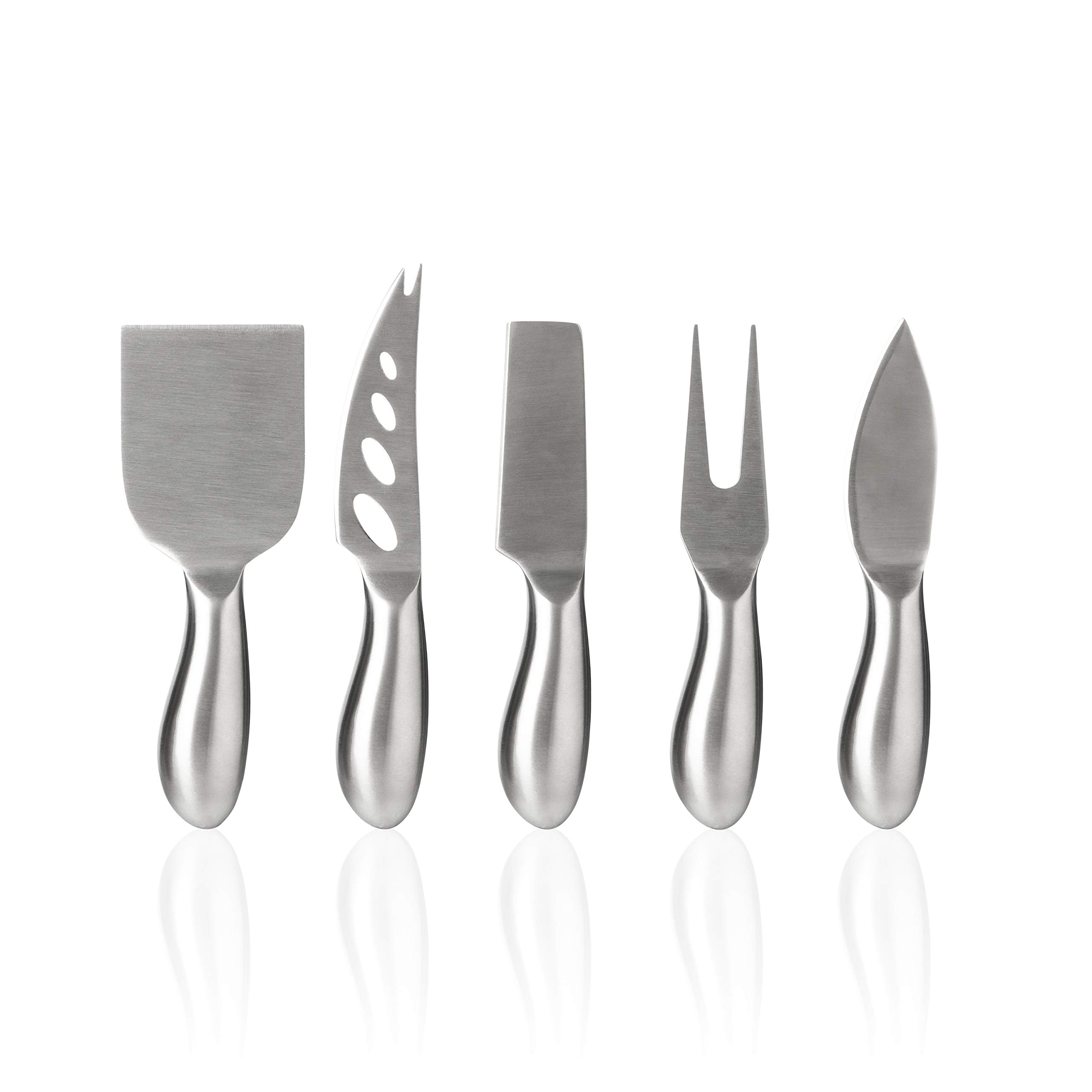 Royal Casa Cheese Knives and Slate Markers Set. Complete Cheese Board Set with 5 Stainless Steel Knives and 6 Slate Cheese Markers. Includes 2 soapstone chalks & cloth bag. Perfect Gift Idea by Royal Casa (Image #3)