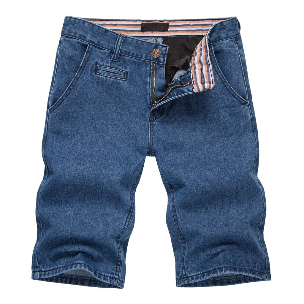Bsjmlxg Mens Fashion Cotton Solid Straight Pocket Distressed Jeans Pants