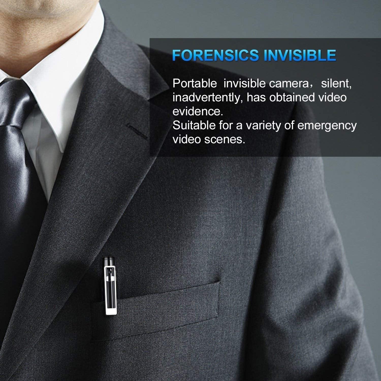 C/ámara Esp/ía Pluma de C/ámara Oculta HD 1080P Mini Pocket Convert C/ámara con Tarjeta SD de 16 GB y Grabadora de Audio y V/ídeo para Negocios y Conferencias