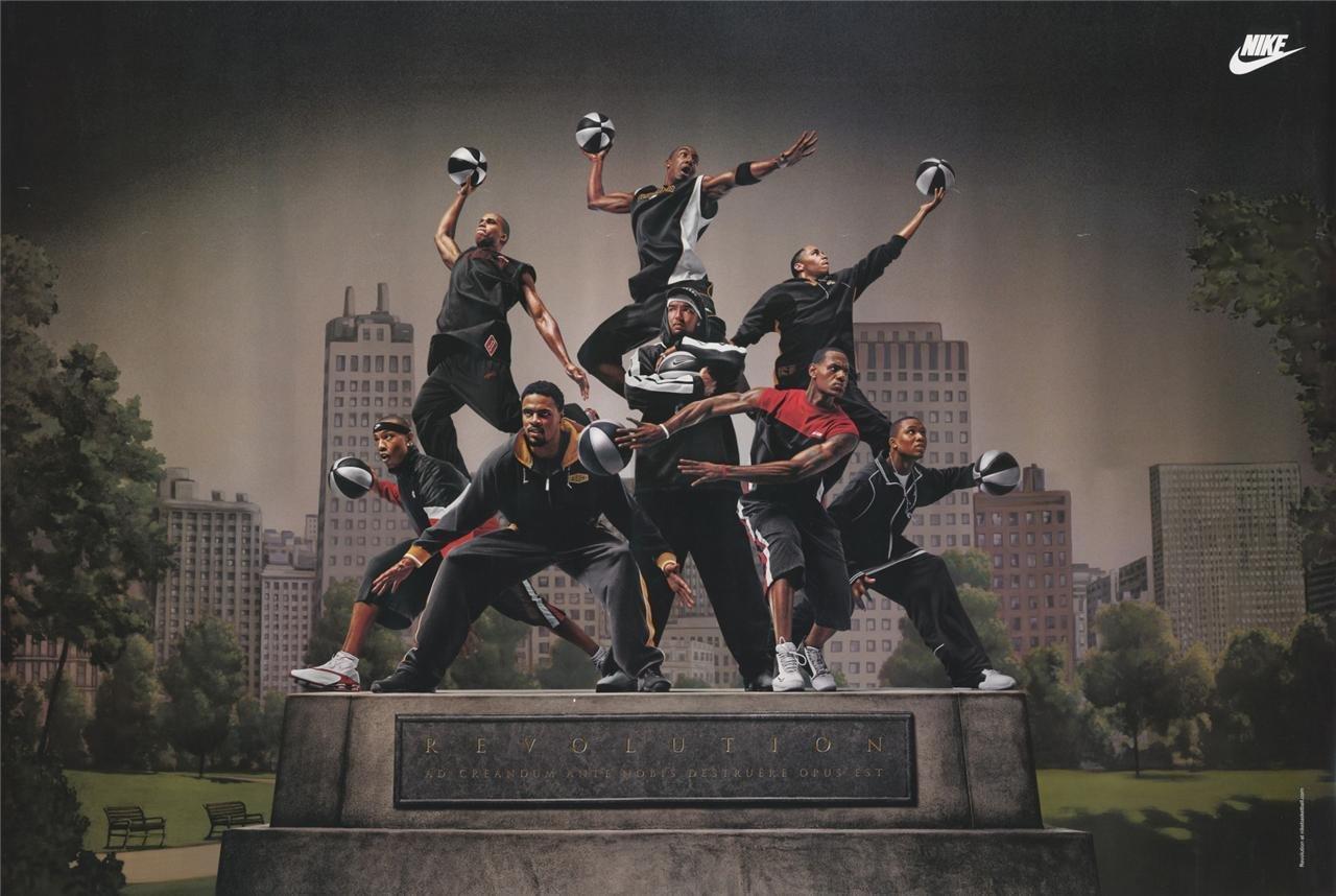 half off 9456b 2f14b Lebron James 2004 Nike Hoop Revolution Basketball Poster 24