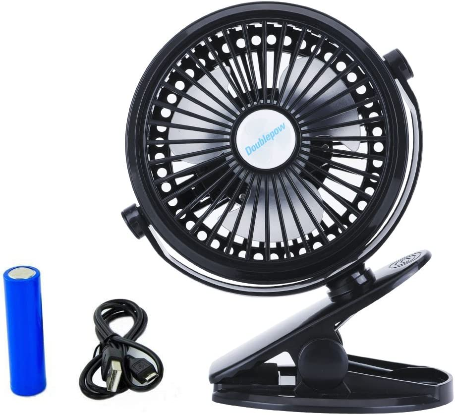 Yuesenfu Electronics Electric Fan New Clip Fan Rechargeable Mini USB Fan Rechargeable Portable Student Dormitory Fan 360 Degree Rotation Adjustment Dual-use Wind Silent Small Fan
