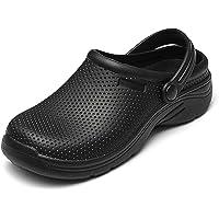 NUHEEL Zuecos para Mujer,Zapatillas de Casa,Enfermera Zuecos y Zapatos,Zapatos de Cocina,Jardin,Impermeable Mula Confort…