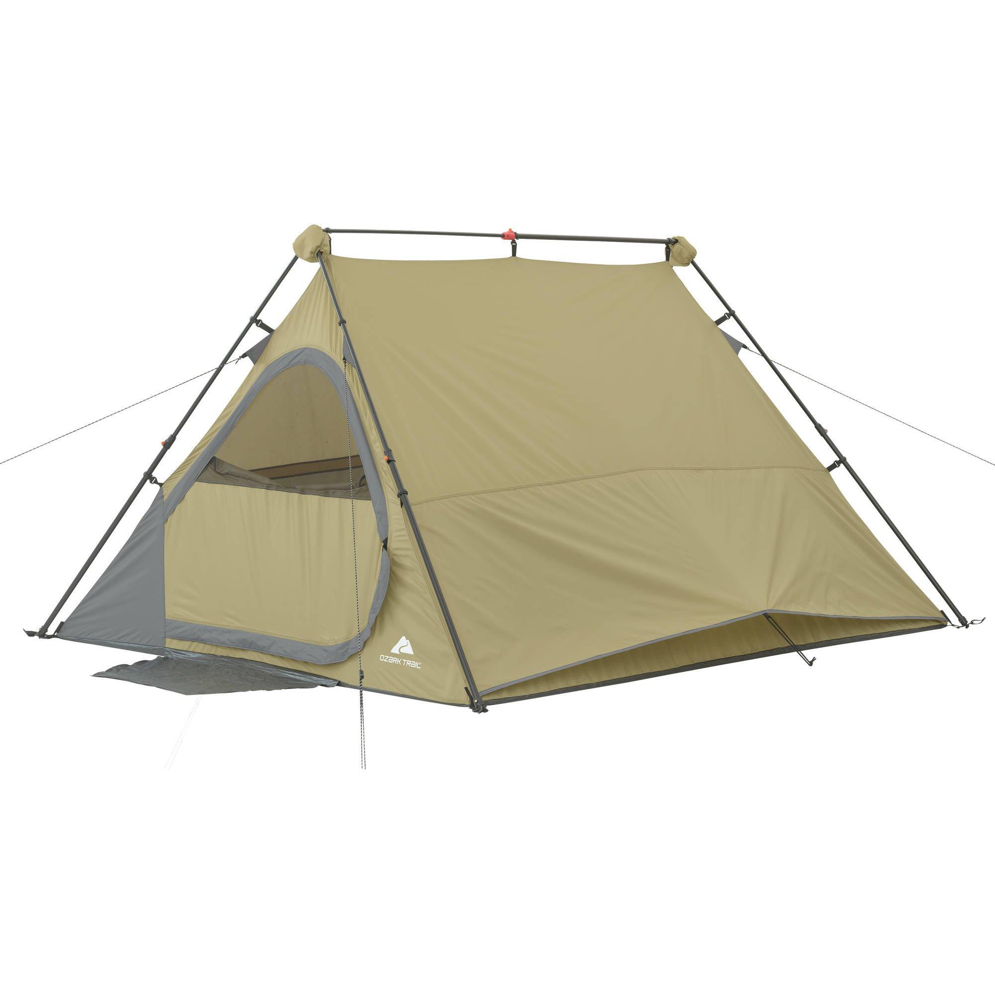 Ozark Trail 8' x 7' A Frame Instant Tent, Sleeps 4 Summer Beach Vacation Ozark Trail 8' x 7' A Frame Instant Tent, Sleeps 4 Summer Beach Vacation