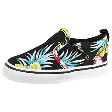 c2f38296c4b Amazon.com  Vans Asher V Infant Slip On Sneakers - Tropi - UK 5 US ...