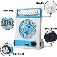 Ansee Solar Fan Camping Fan Cooling Table Fans 3 in 1 Multi-Function