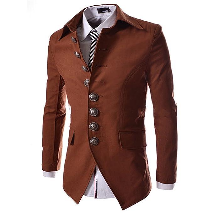 Amazon.com: thadensama estilo de Vintage Court Casual Blazer ...