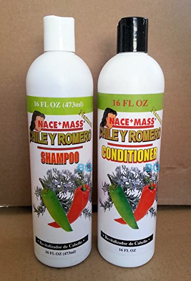 Nace+Mass Chile Y Romero Shampoo Conditioner Combo.. Revitalizador De Cabello.