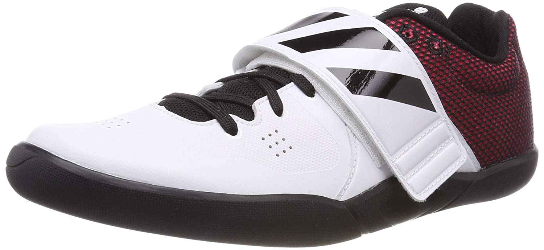 Blanc (Ftwr blanc Core noir Shock rouge Ftwr blanc Core noir Shock rouge) 42 EU adidas Adizero Discus Hammer, Chaussures d'Athlétisme Mixte Adulte