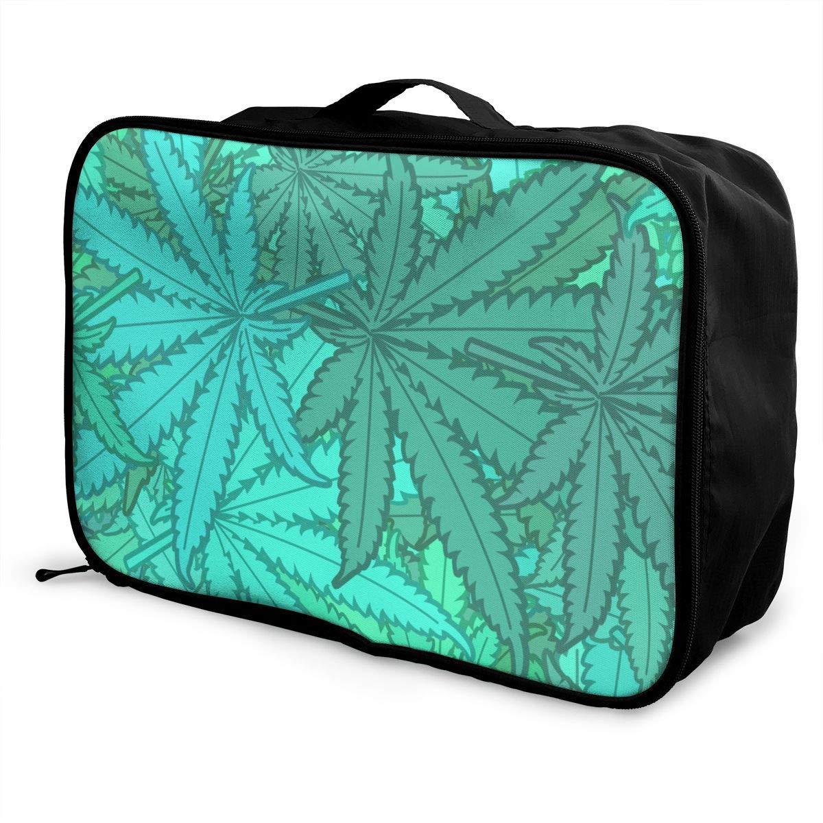 Travel Duffel Bag Waterproof Fashion Lightweight Large Capacity Portable Duffel Bag for Men /& Women Marijuana Leaf Weed Green JTRVW Luggage Bags for Travel