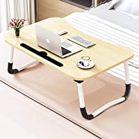 Adjustable Laptop Bed Table Lap Desk, Portable Bed Tray Table for Couch and Sofa, Breakfast Tray Dining Table, Folding…