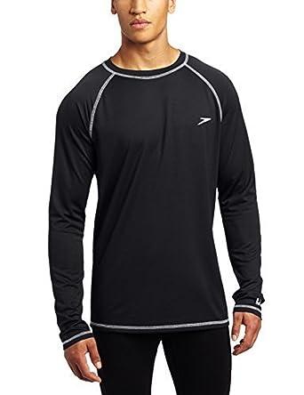 8af616c51e4e2 Speedo Men's Easy Long Sleeve Swim Shirt Speedo Black XL & Sunlotion ...