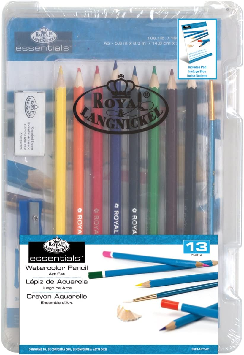 Royal Brush Clearview Mini Art Set Watercolor Pencil 13-Piece