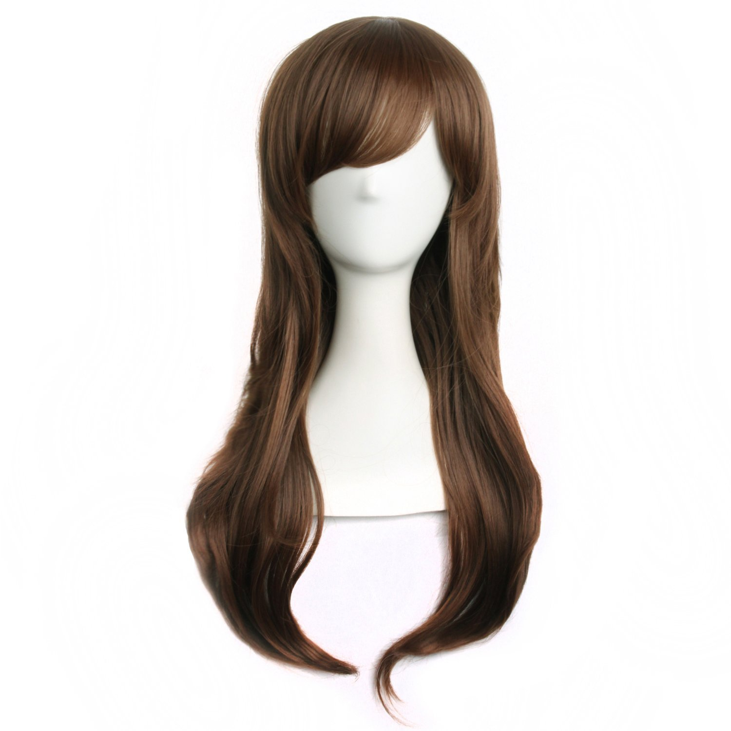 MapofBeauty Cosplay Curly Anime costume Fashion Wigs (Rouge Pink)