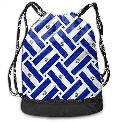 Amazon.com: La bandera de El Salvador bolsa de cordón para ...