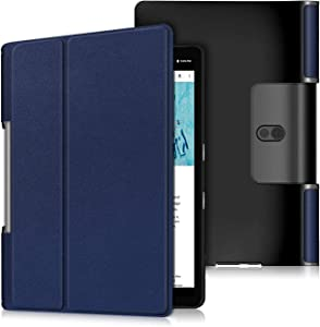 Epicgadget Case for Lenovo Yoga Tab 5 (YT-X705F), Slim Lightweight Protective Shell Cover Case for Lenovo Yoga Smart Tablet 10.1 Inch Display 2019 Released (Navy Blue)