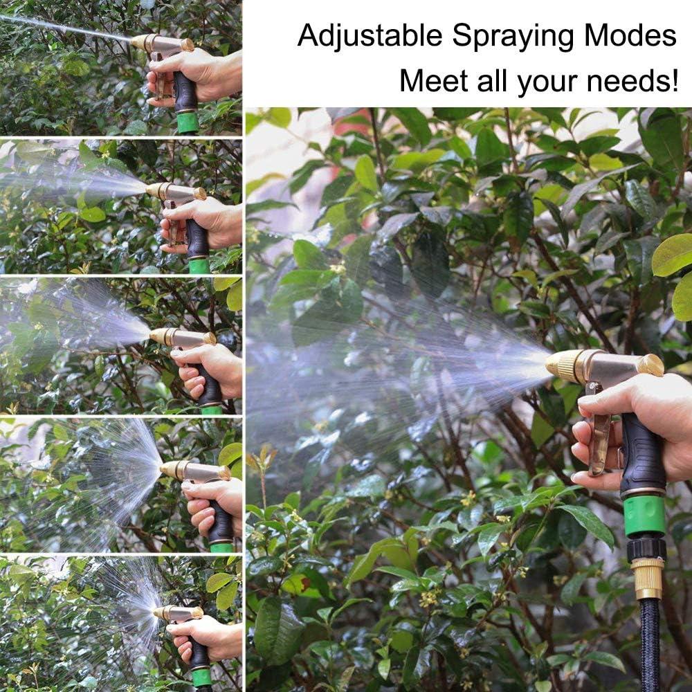 pistola a spruzzo dacqua ad alta pressione resistente regolabile in ottone in lega di zinco per tubi da giardino che innaffiano giardini Pistola a spruzzo dacqua