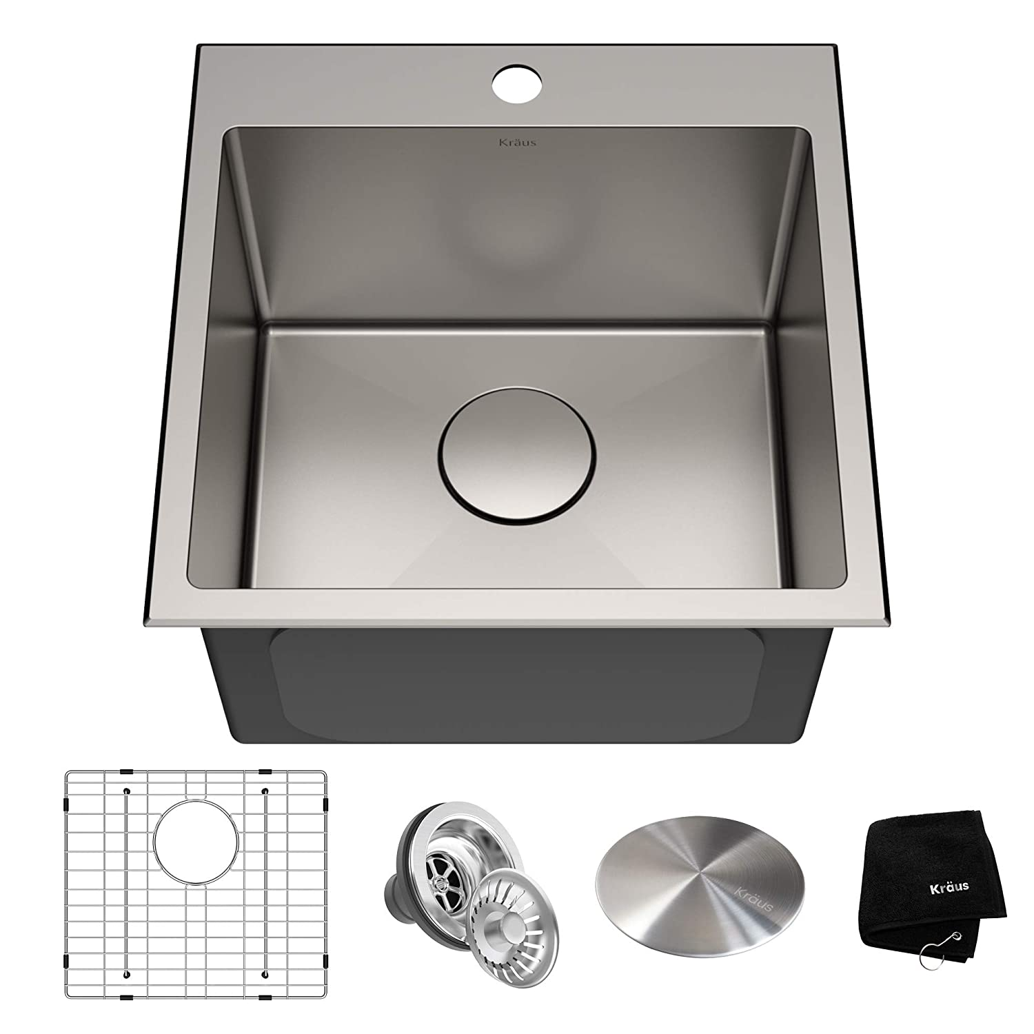 Kraus kht301 18 standart pro kitchen stainless steel sink 18 inch 18 inch amazon com