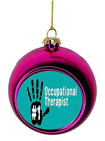 Lea Elliot Inc. #1 Occupational Therapist Handprint Gift Appreciation  Bauble Christmas Ornaments Pink Bauble - Amazon.com: Lea Elliot Inc. #1 Occupational Therapist Handprint Gift