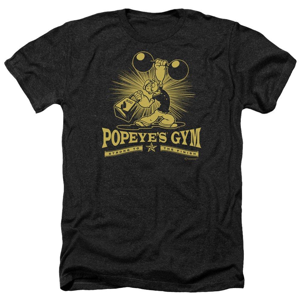 Popeye Popeyes Gym S Heather Shirt Black