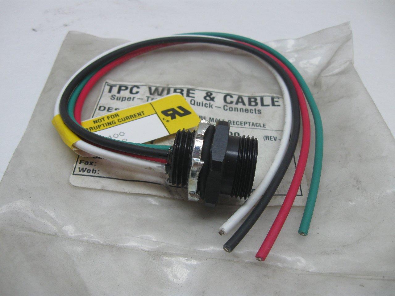 TPC 84400 Wire & Cable Super-Trex Mini Quick Connects 4 Wire Male ...