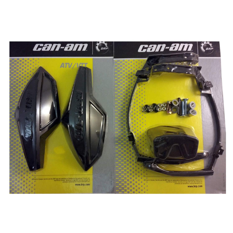 Can-Am ATV BLACK Hand Guard/Wind Deflector Kit w/Mount Outlander, Renegade, DS SV