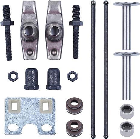 haishine valve push rod guide plate rocker arm lifter tappet stem seal kit  for honda gx340 gx390 188f 5kw 6.5kw generator engine motor: garden &  outdoor - amazon.com  amazon.com