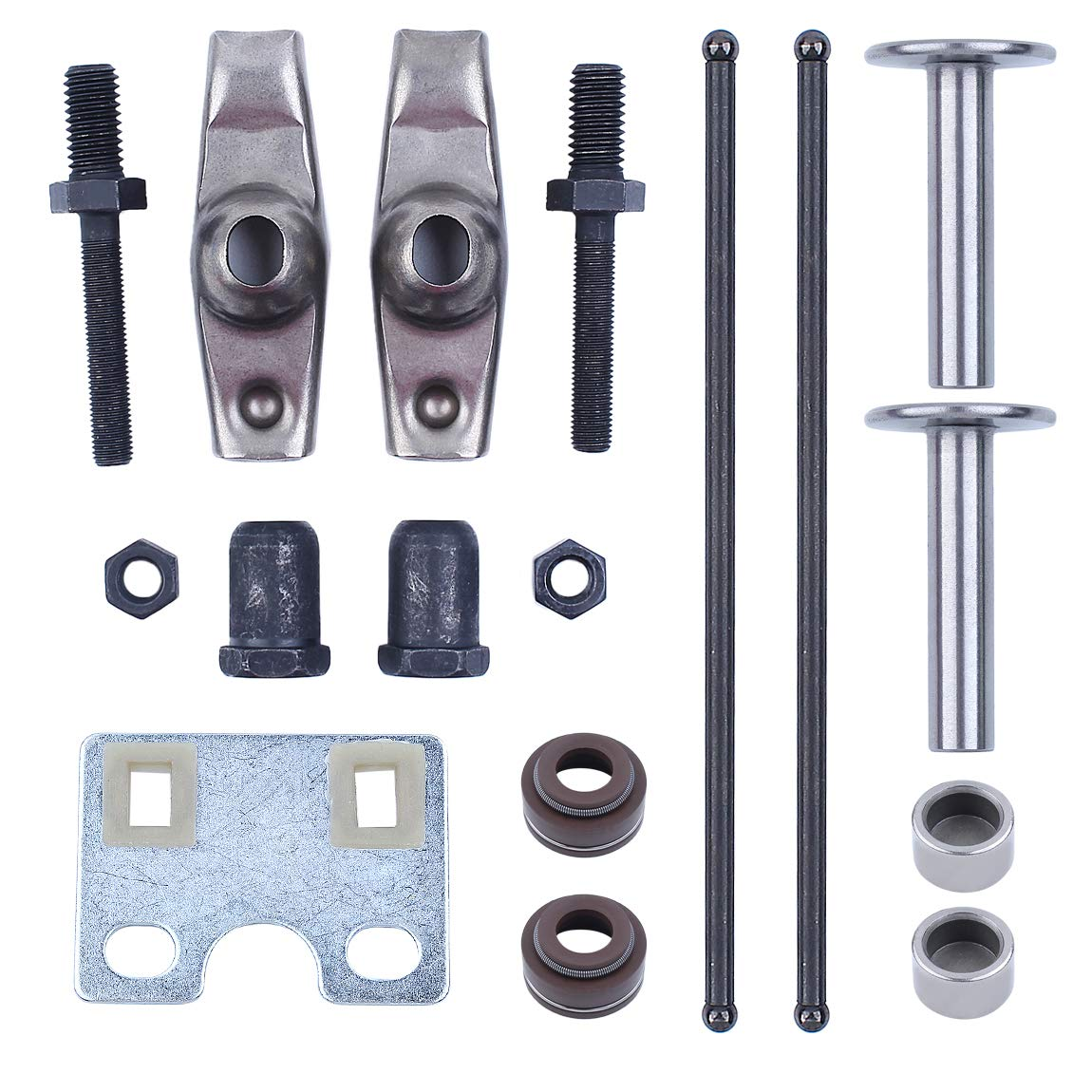 Haishine Valve Push Rod Guide Plate Rocker Arm Lifter Tappet Stem Seal Kit for Honda GX340 GX390 188F 5KW 6.5KW Generator Engine Motor