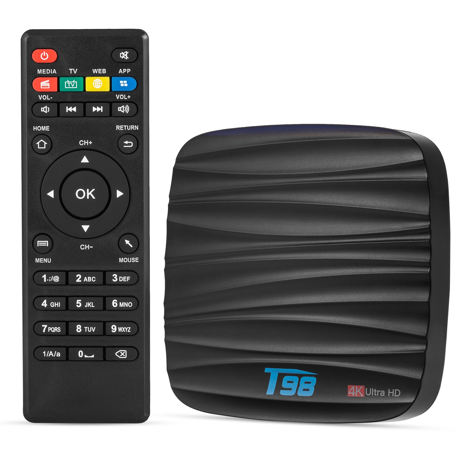 Shawn Android 7.1 T98 TV Box,RK3228 Chipset Quad Core Mali-400 4Kx2K WiFi 2GB Rom 8GB FlASH Chipset Full Loaded  20s start -up Media Player