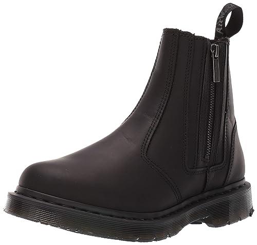 3cb8f9c0167 Dr. Martens 2976 Boot Alyson W Zips Chelsea Black  Amazon.es  Zapatos y  complementos