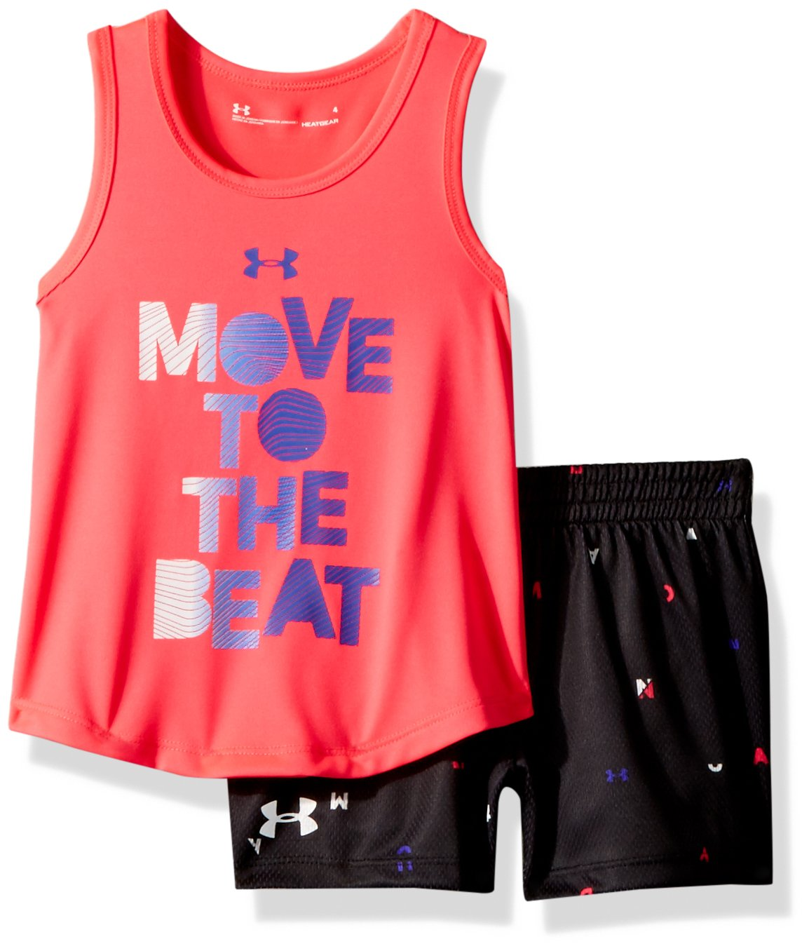 1f7084f732bd1 Under Armour Girls' Toddler UA Tank and Short Set, Penta Pink, 2T