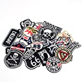 12pcs Mixed 2.8-11.8cm Assorted Iron-on Embroidered patch Motif Applique