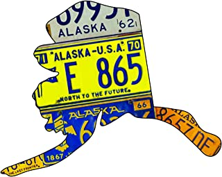 product image for Surf To Summit Plasma Cut Steel Alaska License Plate Map Sign Metal Sign Home Decor Wall Art Garage Art Great Gift Man Cave Plasma Cut Steel Sublimated Rustic Sign Birthday Gift Alaska